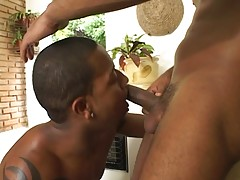 In this scene, you will be watching a good-looking black football player hook up with his Latino teammate. These dudes just finished a game and what better way to celebrate their victory than having hot gay anal sex. You`ll be watching this black Latino s