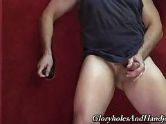 This interracial glory hole is the perfect place for a dad like me to get a mouthful of ebony dick.