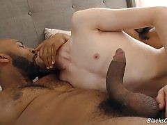 The Bull is about to split him wide open. Soon, both Bulls are awake and alert, and Richard The Twink has his mouth stuffed with both BBC`s at one time! Of course Richard can`t get both in, but that doesn`t stop him from trying. And soon, the Bulls are ta