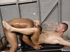 If poor Aaron thought the workout was tough, wait until he experiences Ray working over his tight, white asshole.