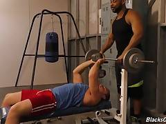 Jacob has always noticed Ray`s immense package, even when he`s wearing loose-fitting shorts, and Jacob swears Ray rubs his hard, throbbing cock on his ass whenever Ray`s standing close behind, offering up advice on proper lifting techniques.