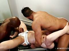 Damian really likes the vibe so he decides to see if Caleb would be willing to eat his ass. Caleb, being the dick and ass fiend he is, happily has a taste of Damian`s hole.